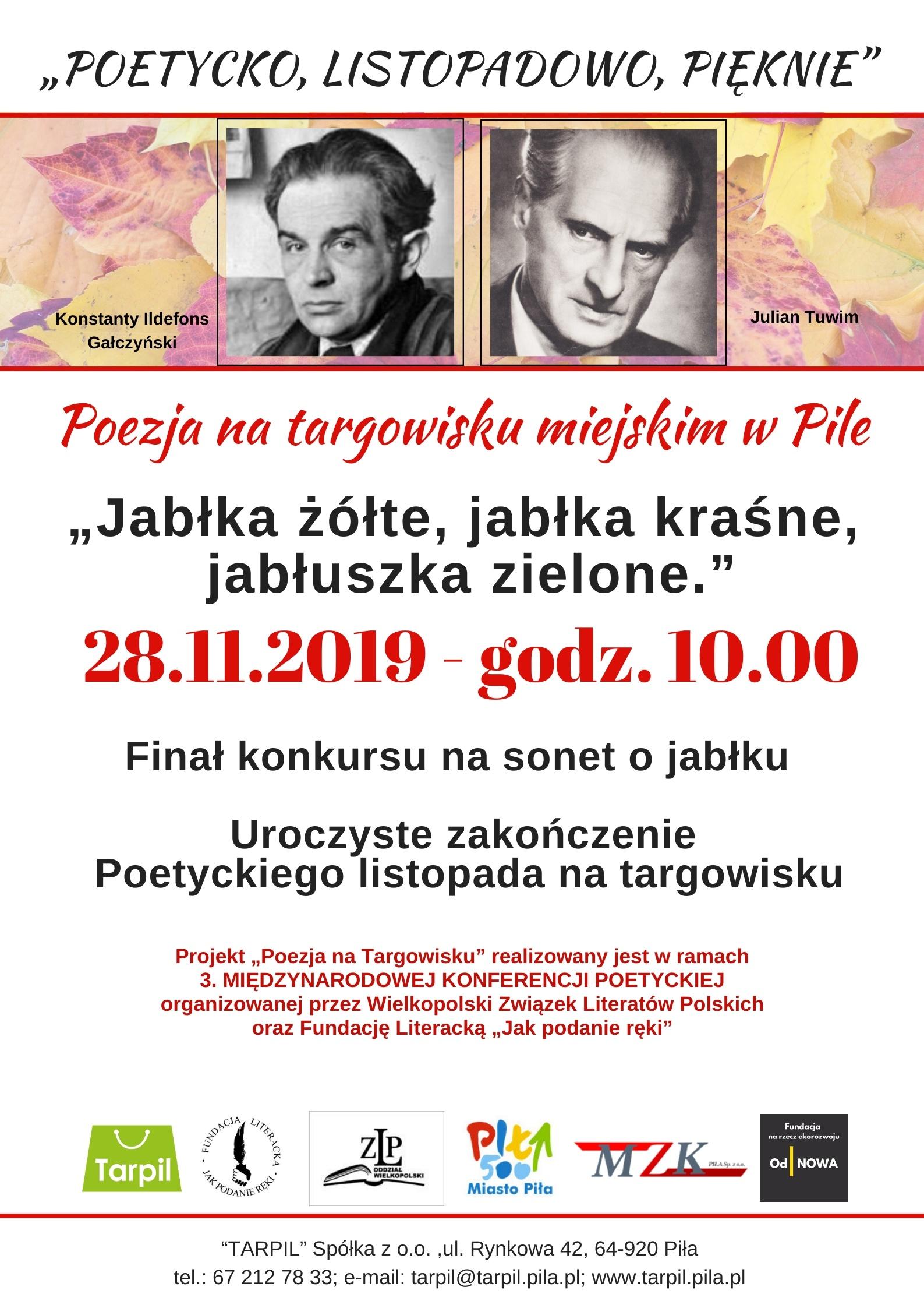 28.11.2029 Poezja na targowisku Plakat