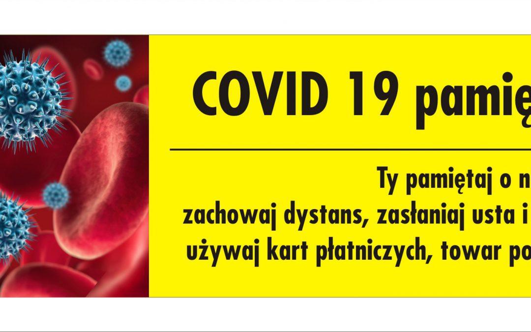 COVID 19 pamięta o Tobie Ty pamietaj o nim